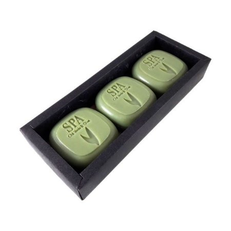 Sabonete Vegetal Spa Argila Verde 100g caixa com 3 unidades