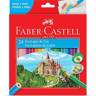 Lápis de Cor 24 cores sextavado -Faber Castell