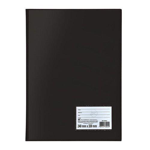 Pasta Catálogo 20 Envelopes Finos Preto DAC