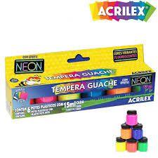 Tinta Guache 015ml Neon 6cores Acrilex Pct.c/06