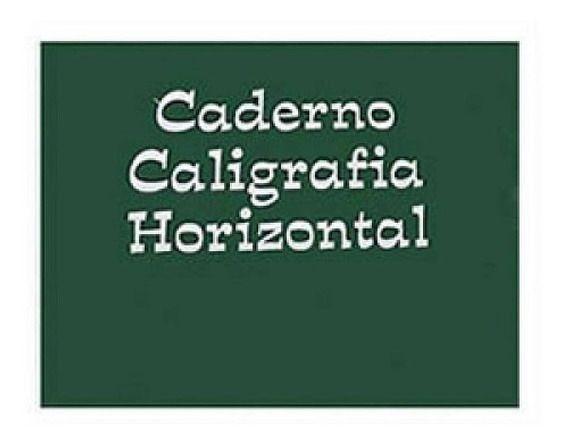 Caderno Caligrafia 96f CD Horizontal Tamoio