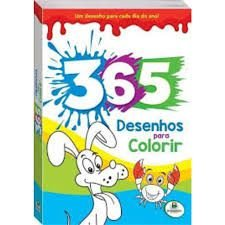 Livro 365 Desenhos Para Colorir Todo Livro