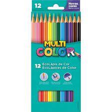 Lapis De Cor Sextavado Multicolor Super Eco 12 Cores