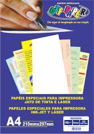 Papel Especial Texterizado 180g A4 Madeira