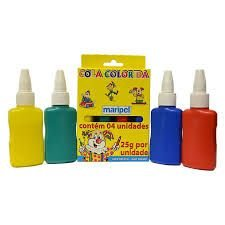 Cola Colorida 4 Cores Maripel