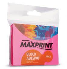 Bloco adesivo 76x102 100 fls Rosa Maxprint -