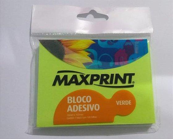 Bloco Adesivo 76x102 100 fls Verde Maxprint -