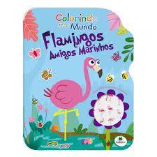 Livro Colorindo Meu Mundo Flamingos C/100 Adesivo Todolivro
