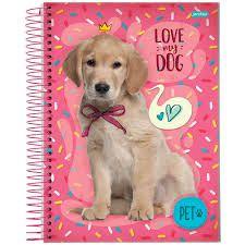Caderno Universitário Friend Pet 12 Mat 200 Fls Jandaia