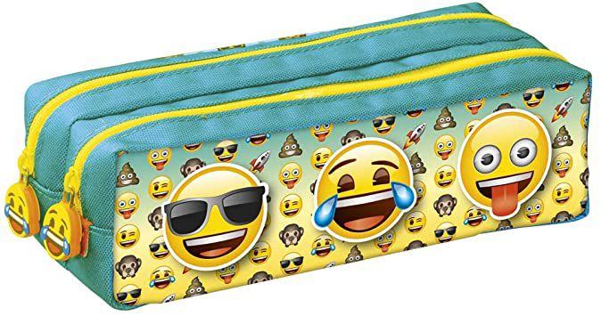 Estojo Emoji 3 faces Duplo Foroni