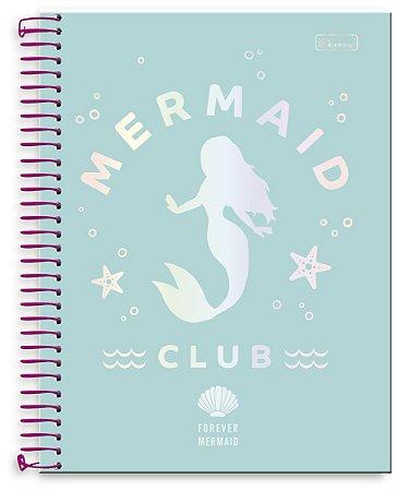 Caderno Universitário 10x1 Forever Mermaid Cadersil