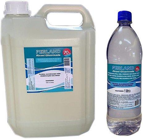 Álcool Gel 70% Glicerinado super combo 5L mais 1L