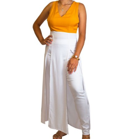 Vestido Abertura Frontal Alta - Eleva