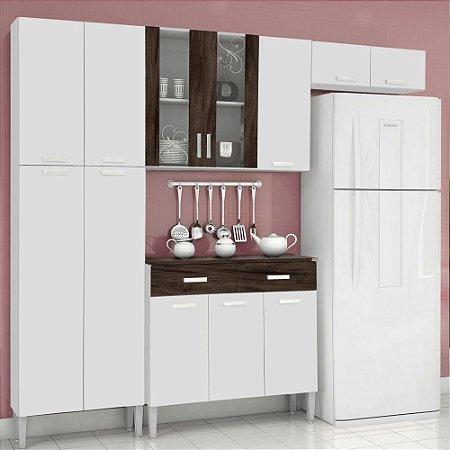 Cozinha Compacta 02 Peças Alfa Top Branco white petróleo
