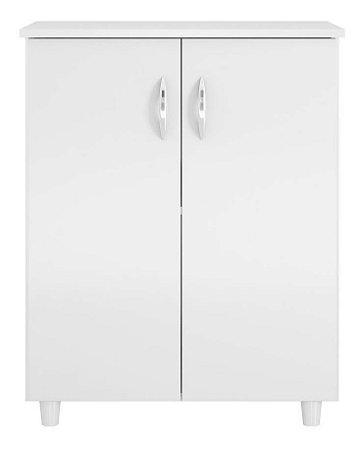 Balcão Para Cozinha Com 02 Portas E 04 Pés Nt3010 Branco New