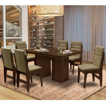 Mesa De Jantar 6 Cadeiras Amsterdam Can cas Ams