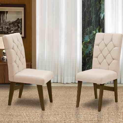 Conjunto 02 Cadeiras Para Sala De Jantar Istambul Cast/areia