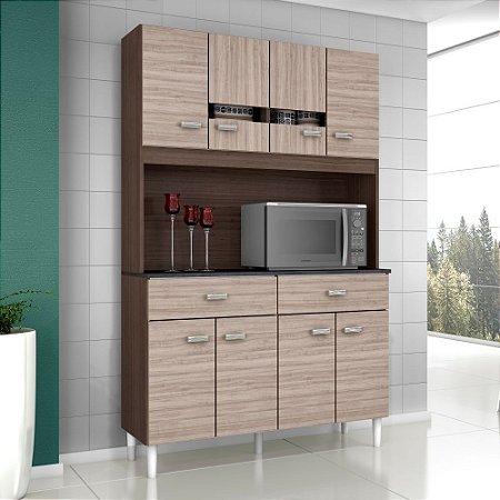 Cozinha Compacta Kit Manu 08 Portas 02 Gavetas Capuu amend