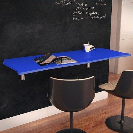 Mesa Dobrável Suspensa Flat Em Mdf De 15 Mm 130cm Azul