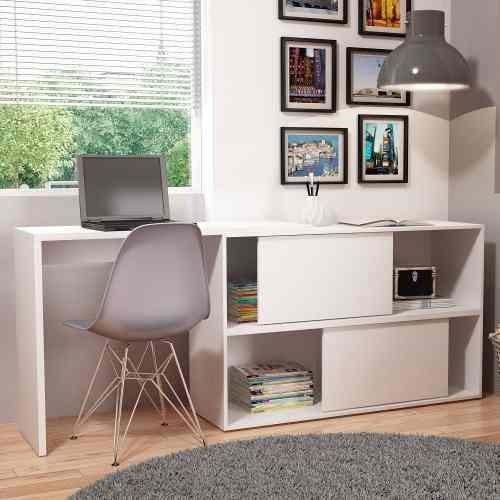 Mesa de Escritório para PC e Notebook Performa Bc44 Branco