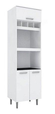 Paneleiro Duplo De Cozinha Microondas Bruna Ii Branco
