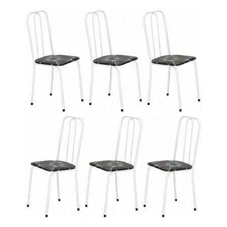 Cadeira para Cozinha 6 UN Com Assento Reto 0.0.234