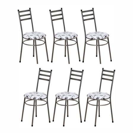 Cadeira Para Cozinha 6 UN Com Assento Estofado 0.0.135