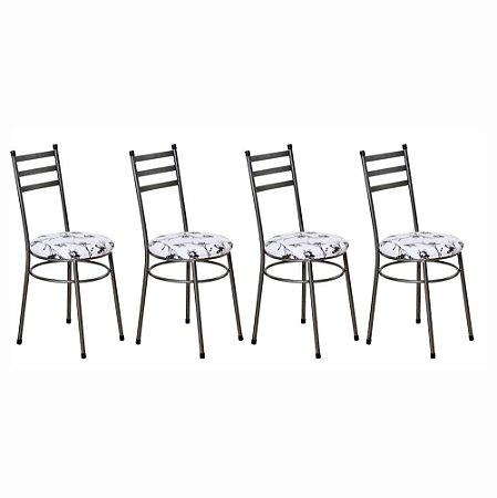 Cadeira Para Cozinha 4 UN Com Assento Estofado 0.0.135