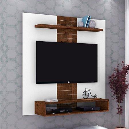 Painel Para Tv  47 Polegadas Smart Branco rústico Malbec