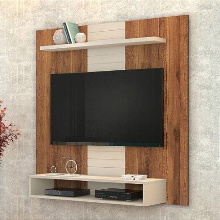 Painel Para Tv 47 Polegadas Smart Rústico Terrara off White