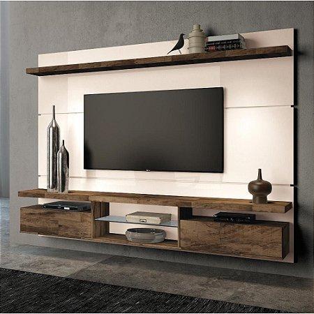 Painel Para TV Home Suspenso Até 60 Livin 2.2 Off White deck