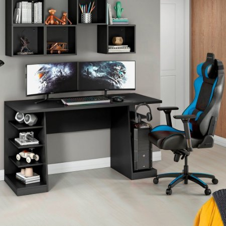 Mesa Para Computador Ou Notebook Gamer Xp All Black Nt2020