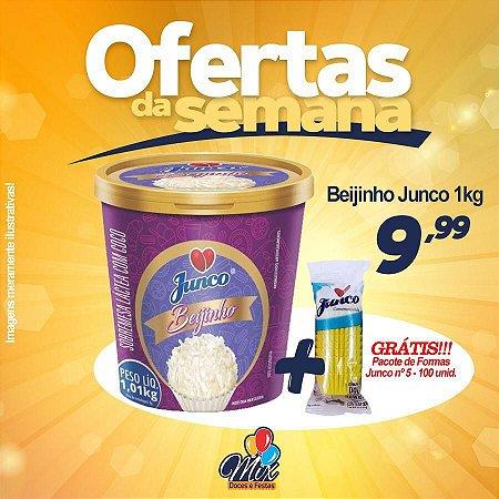 Beijinho Junco 1kg - Grátis pacote de Formas nº9 100 unid.