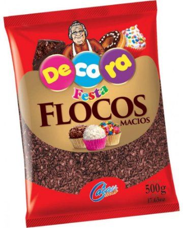 Flocos Sabor Chocolate Macio 500g - Decora