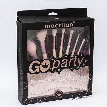 Kit Pincéis Go Party - Macrilan