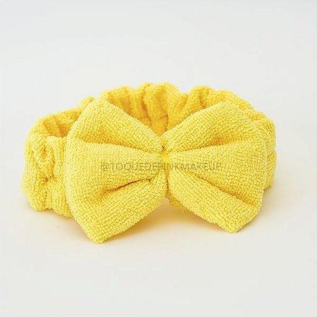 Faixa De Make Laço Amarela - NONI BEAUTY