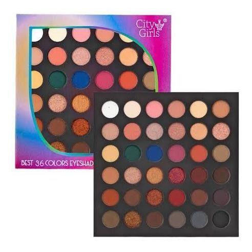 Paleta de Sombras 36 cores Eyeshadow Collection - City Girls