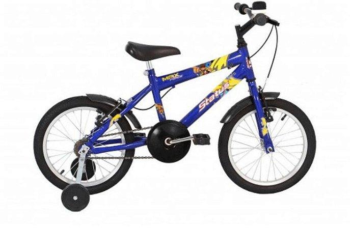 "Bicicleta Infantil Status Aro 16"" - Azul"