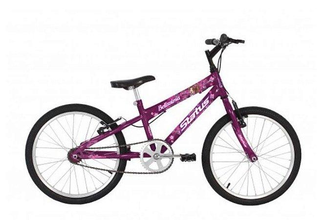 Bicicleta Status Belissima Juvenil Aro 20″ – Roxa
