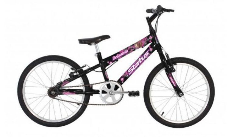 Bicicleta Status Belissima Juvenil Aro 20″ – Preta