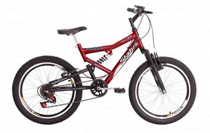 Bicicleta Status Full Juvenil Aro 20″, 7 Marchas – Vermelha