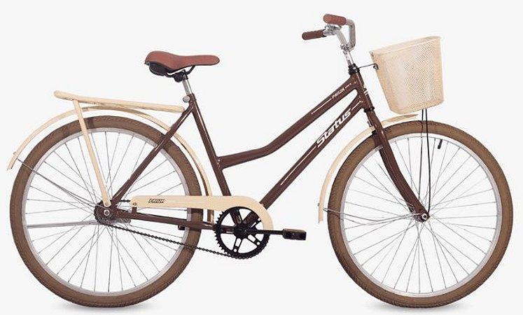 Bicicleta Status Panda Retrô- Marrom, Bege