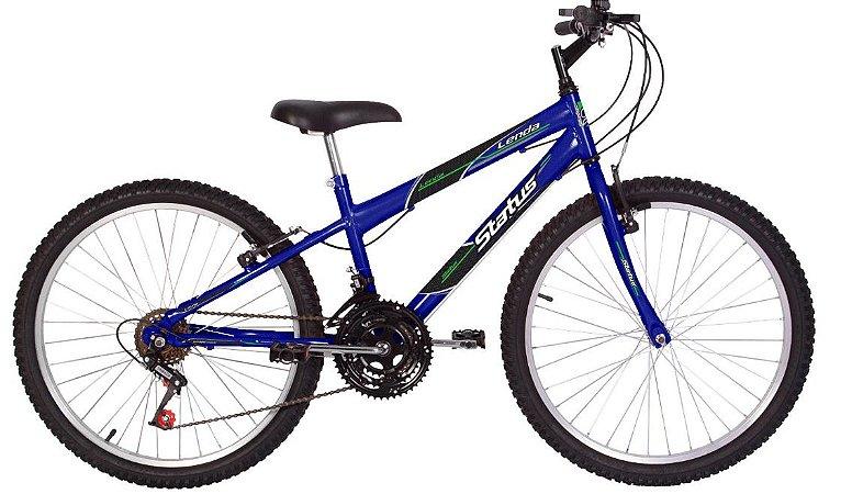 Bicicleta Status Lenda Aro 24″ , 18 Marchas- Azul