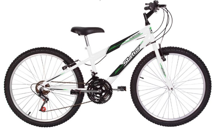 Bicicleta Status Lenda Aro 24″, 18 Marchas- Branca