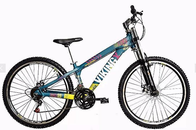 """Bicicleta Vikingx Tuff X-25 Aro 26 """", 18 Marchas –  Azul"""