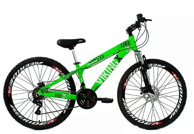 """Bicicleta Vikingx Tuff X-25 Aro 26 """", 18 Marchas –  Verde"""