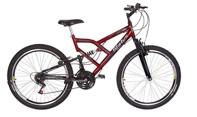 Bicicleta Status Full Aro 26″, 18 Marchas-Vermelha