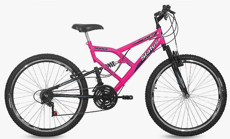 Bicicleta Status Full Aro 26″, 18 Marchas - Rosa Flour