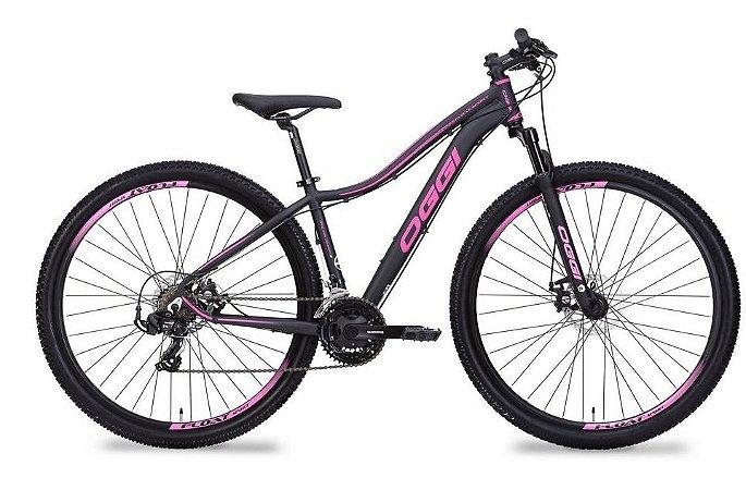 Bicicleta Oggi Float Sport Aro 29″, 21 Marchas- Preta e Rosa
