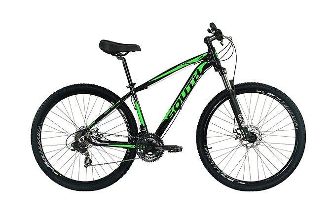 Bicicleta South Legend Aro 29″- Preta e Verde